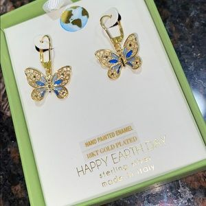 HAPPY EARTH DAY Butterfly Earrings